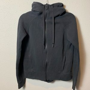 LULULEMON Womens XS Black Zip Up Fleece Hoodie